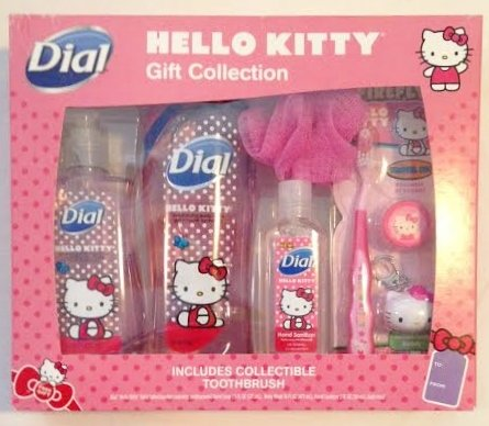 Dial Body Wash Mixed Gift Set, Hello Kitty, 50 (Angel Scented Shower Gel)