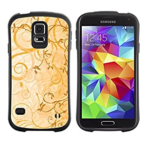 All-Round Hybrid Rubber Case Hard Cover Protective Accessory Gerneration-I Compatible with SAMSUNG GALAXY S5 - cvety vetochki uzory ornamenty