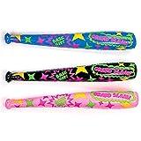 Inflatable Assorted Neon Super Bats,1 dozen(12 pieces)