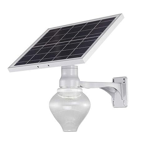 Solar Foco Proyector LED, 9W Exterior de Alta Seguridad Polo ...