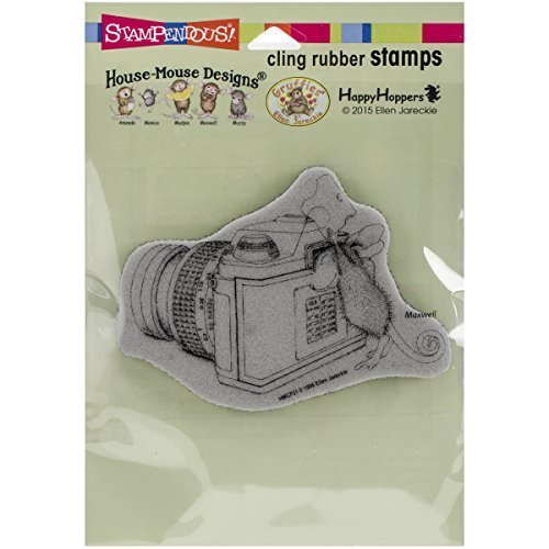 Stampendous Rubber House Mouse Cling Stamp 6.5-inch x 4.5-inch, Say Cheese by Stampendous by STAMPENDOUS