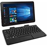 RCA Cambio Flagship Black Edition 10.1 Touchscreen 2 IN 1 Tablet Laptop With Keyboard Free Office Moblie (Intel Quad-Core Z3735 Processor, 2G RAM, 32G Storage, IPS, Windows 10)