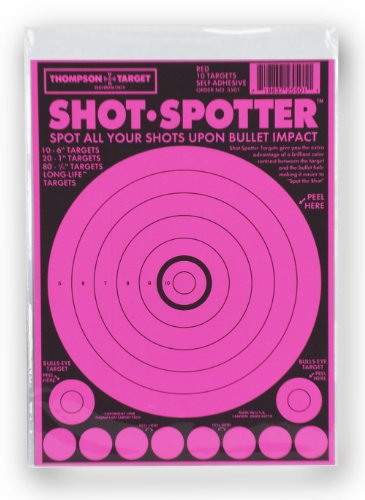 (Shot Spotter Pink - Self Adhesive Peel & Stick Targets 6 x 9 Inches (10 pack))