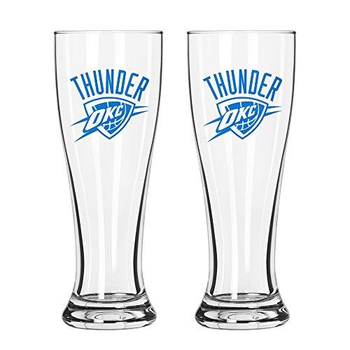 NBA Oklahoma City Thunder Game Day Pilsner, 16-ounce, - Oklahoma City Glasses