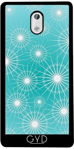 Funda de silicona para Nokia 3 - Turquesa Patrón De Estrellas by Nina Baydur