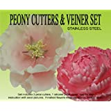Peony Cutters & Veiner Set by Petalcrafts