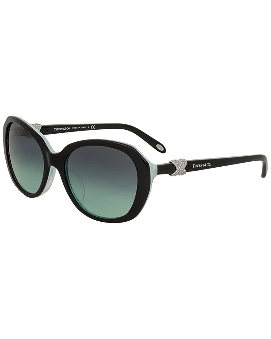 9d5bd753a00 TIFFANY Women s 4108BF 0TY4108BF 81939S 55 Sunglasses Black Striped  Blue Blueegradient  Amazon.co.uk  Clothing