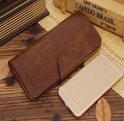Geldbörse, Rcool Luxus Herren Leder lange Brieftasche Taschen Personalausweis Kupplung Bifold Geldbörse