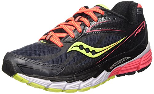 Saucony Women's Ride 8 Running Shoe, Mid/Coral/Citron, 11 M US