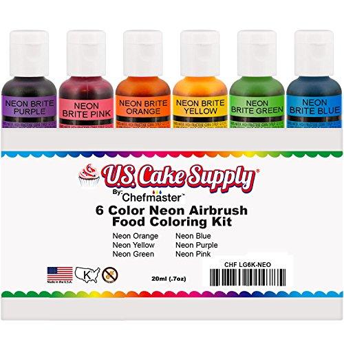 Amazon.com : 6 Color Cake Food Coloring Liqua-Gel Decorating Baking ...