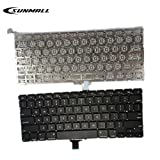 SUNMALL NEW A1278 Keyboard replacement without Backlight Backlit for MacBook Pro 13'' US Layout MD313 MD314 MC374 MC375 MB466 MB467 MC700 MC724 MB990 MB991 MD101 MD102 series 2009-2015 Years