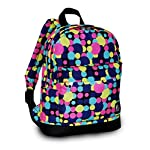 """Everest Junior Backpack, Multi Dot, One Size 8 <p>Available in a range of eye-catching colors and prints, this backpack is perfect for stylish young kids on the go. The Everest Junior Kids Backpack is made from polyester fabric and features a colorful allover print with a zip top main compartment and a zip front compartment to hold smaller items. Perfect for kids heading off to preschool or day care, this slim backpack offers a distinctive, eye-catching design that can be used to carry school supplies, art supplies, or lunch. Adjustable backpack straps and a looped top haul handle make it easy and comfortable for little ones to carry. Dimensions 10"""" x 3.5"""" x 13"""" (LxWxH) Durable compact size backpack for kids and youths Weighing in at 8.8 ounces (250g), this ultra lightweight backpack is one of the easiest things to wear and carry Easy access front pocket with hidden zipper closure Available in fun prints for the ultimate personal expression Imported</p>"""