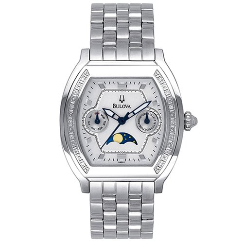 Bulova Women's 96R51 Diamond Moon Phase Watch (Bulova Moonphase)