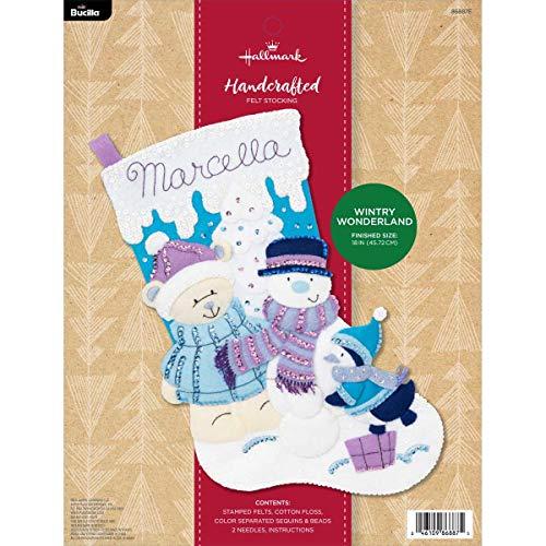 Bucilla 86887E Hallmark Felt Applique Stocking Kit, 18