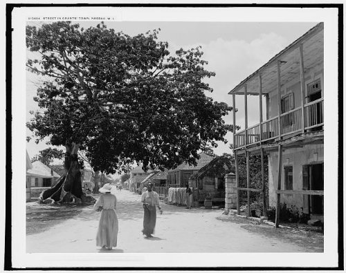 Photo: Street,Grant's Town,homes,residential neighborhoods,Nassau,Bahama Islands,c1900