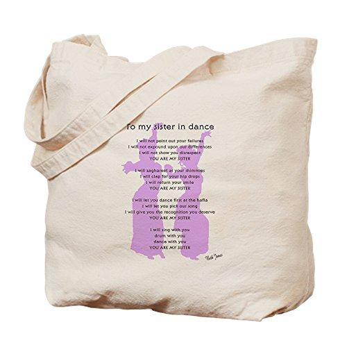 (CafePress - Bellydance Sister Poem - Natural Canvas Tote Bag, Cloth Shopping Bag)