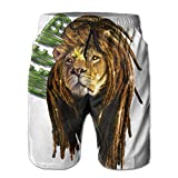 Lion Dreadlocks Nice Men's Running Pants 8.82oz Quick Dry