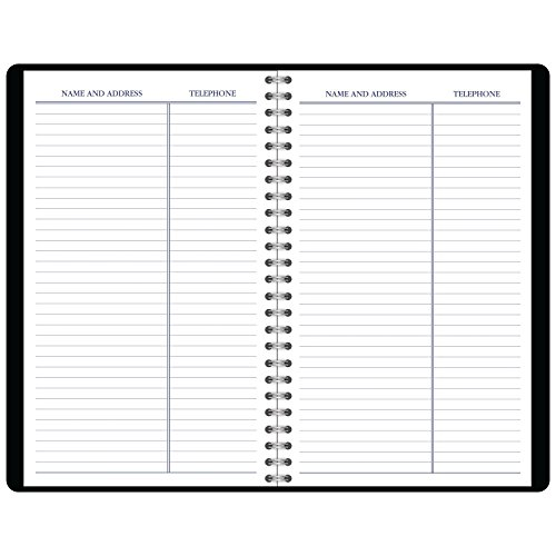 """DayMinder Weekly Appointment Book / Planner, January 2018 - December 2018, 4-7/8"""" x 8"""", Black (G21000) Photo #3"""