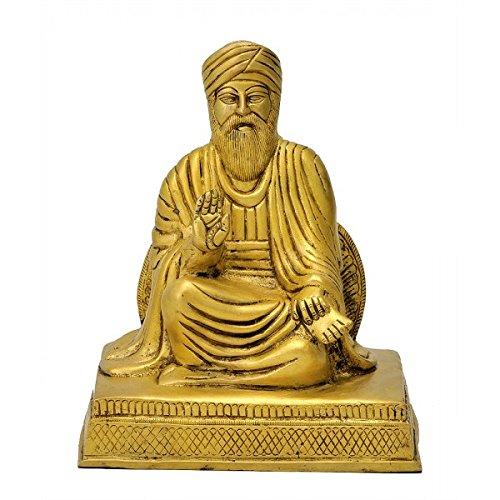 Gangesindia Guru Nanak Dev ji - Brass Sculpture