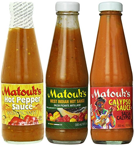 Matouk's Hot Sauce Combo-Calypso, West Indian & Hot Pepper Sauce(Pack of 3)