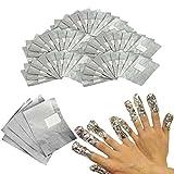 Image of INHDBOX 100 Nail Art Soak Off Removal Gel/Polish/Acrylic/Shellac Foil Wraps