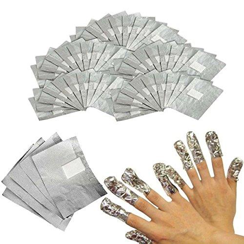 INHDBOX 200 Nail Art Soak Off Removal Gel/Polish/Acrylic/Shellac Foil Wraps ()