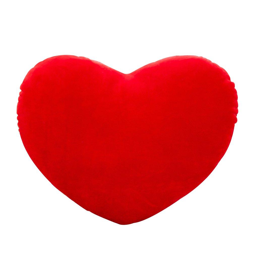 Kofun Heart Shape Pillow, Heart Shape Decorative Throw Pillow Pp Cotton Soft Creative Doll Lover Gift Ideal Christmas Birthday Heart Shape Pillow Gift for Kids 15 cm Red