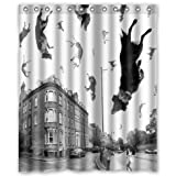 "Raining Cats and Dogs Waterproof Bathroom Shower Curtain (60"" x 72"" )"