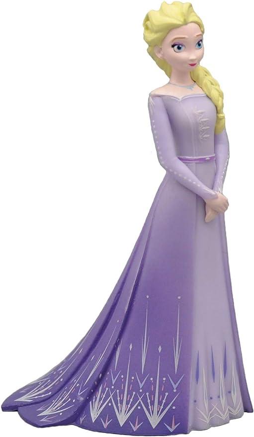 """# BULLYLAND 13510 personaggio /""""Elsa nel vestito viola/"""" Frozen 2 Plastica Nuovo"""