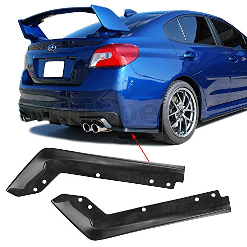 GTSpeed Made for 15-17 Subaru WRX STi OE Style Rear PU Bumper Valance Lip Add-on Spats Aprons