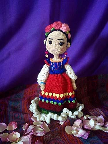 Frida Kahlo Tradición Muñeca Mexicana Tejida A Mano