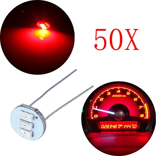 v Car Red Mini Bulbs Lamps Indicator Cluster Speedometer Backlight Lighting Replacement fit for GM GMC ()