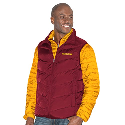 G-III Sports NFL Washington Redskins Three and Out 3-in-1 Systems Jacket, Large, Gold/Burgundy from G-III Sports