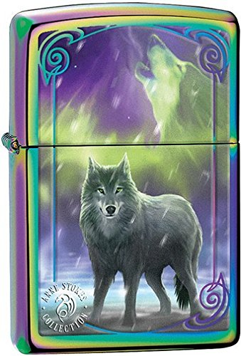 Personalized Anne Stokes Collection Dragon Street Chrome Zippo Lighter (Personalized Zippo Spectrum Lighter)