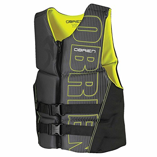 - O'Brien Men's Flex V-Back Neoprene Life Vest, Yellow, Large