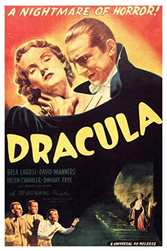 Dracula A Nightmare of Horror Movie Film Classic Poster 24x36 inch (Classic Movie Film Poster)