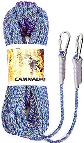 10.5mmの上昇ロープ、カラビナの安全ロープが付いている耐久ロープ、野外活動のために適した10m