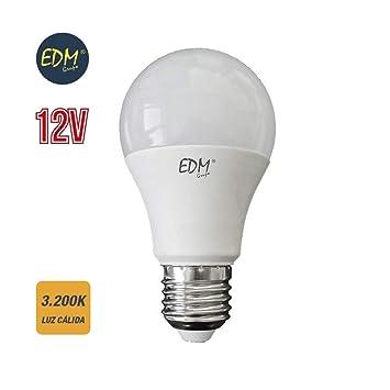 Bombilla standard led 12v 10w E27 3200k 810 lumens luz calida EDM 98850