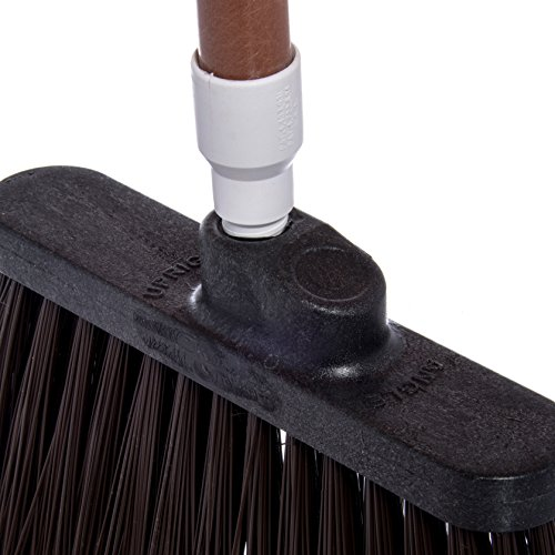 Carlisle 4108301 Sparta Duo-Sweep Unflagged Angle Broom with Fiberglass Handle, 54'' Length, Brown by Carlisle (Image #4)