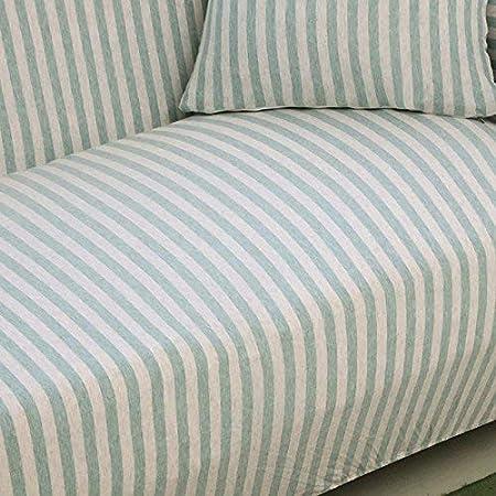 insensible aux Chutes antid/érapantes Blau+wei/ß 3 Sitzer 190-230cm Tissu HYSENM Housse de canap/é 1//2//3//4 en Coton Bambou