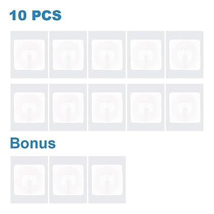 NFC Tags Sticker NFC Pegatinas NXP NTAG215 Etiquetas NFC with Engomada 504 Bytes Memory, 1 Pulgada Cuadrada, Para Amiibo Tagmo - TimesKey (10 + 3 ...