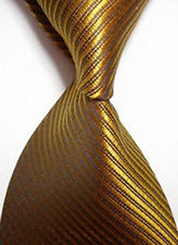 Dan Smatree ties New Mens Formal Tie Dress Shirt Casual Striped Bronzer Necktie JACQUARD WOVEN Groomsmen JV938