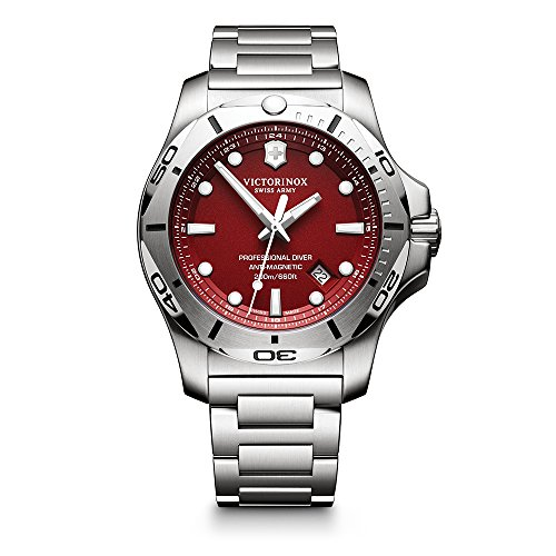 - Victorinox Swiss Army Men's I.N.O.X. Swiss-Quartz Watch with Stainless-Steel Strap, Silver, 22 (Model: 241783)