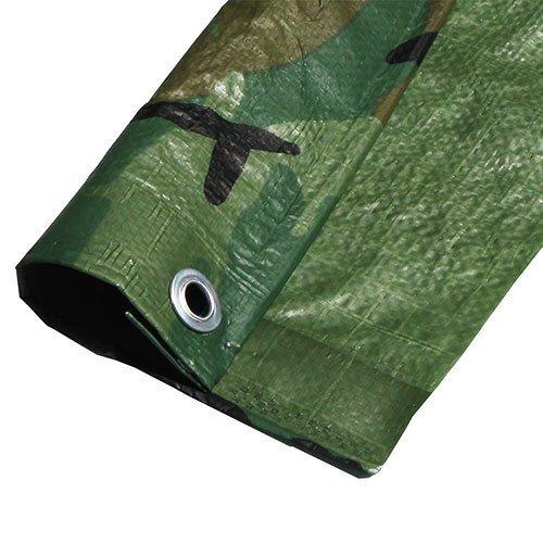 8 Mil Medium Duty Camouflage Poly Tarp Sun Shade Canopy Top (10' x 20') ()