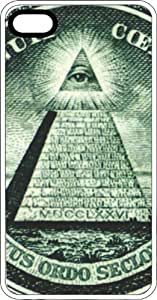 The All Seeing Eye From American Treasure White Rubber Case for Apple iPhone 5c