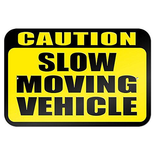 Caution Slow Moving Vehicle Metal