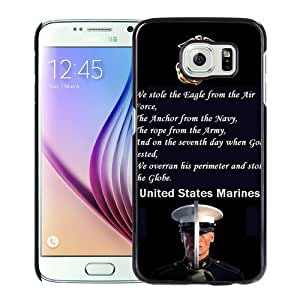 Hot Sale Samsung Galaxy S6 Case, My marines love Black Samsung Galaxy S6 Cover Unique And High Quality Designed Phone Case