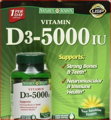 Nature's Bounty Immune Health Vitamin D3 5000 IU, Rapid Release 400 (Natures Bounty Natural Vitamin)