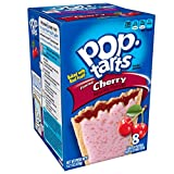 Pop-Tarts Breakfast Toaster Pastries, Frosted Cherry Flavored, Bulk Size, 96 Count (Pack of 12, 14.7 oz Boxes)