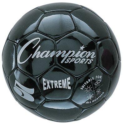 Black Soccer Ball (Champion Sports Extreme Series Size 4 Composite Soccer Ball Color: Black (EX4BK))